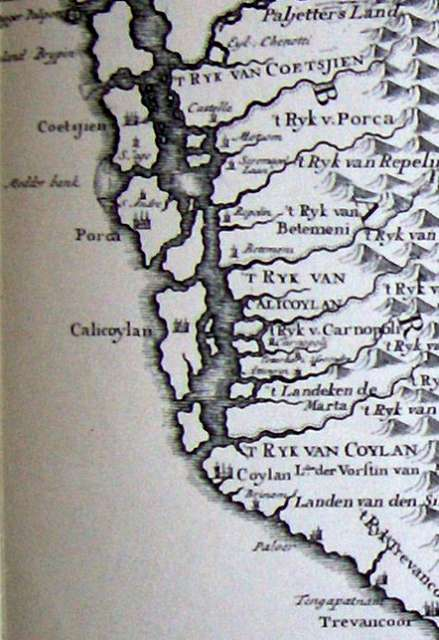 Map of the Malabar Coast