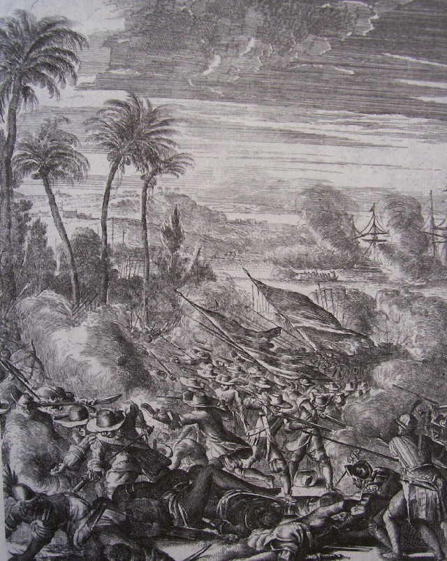 Battle at the beach near Quilon
