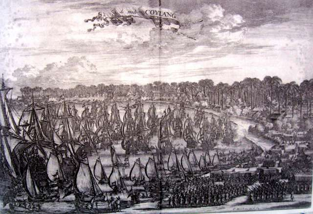 VOC-troops disembarking near Quilon